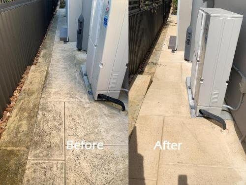 Pressure Washing Pathway Before & After